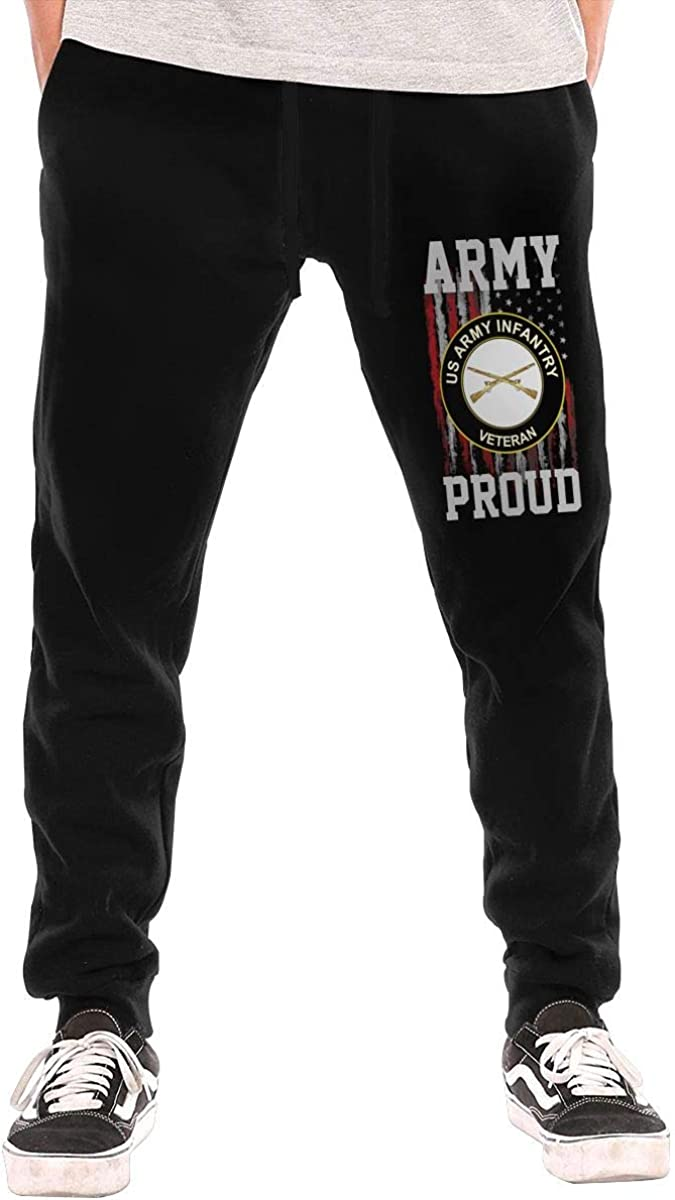 Proud US Army Veteran Infantry Mens Sweatpants for Gym Training