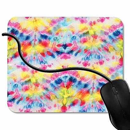 Amazon com : Mouse Pad Multicolor Tie Dye Hand Painting