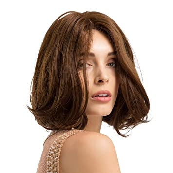 Oufenli Short Bob Hair Wig 11   Short Straight Hair Heat Resistant  Synthetic Natural As 7b7c2dd707