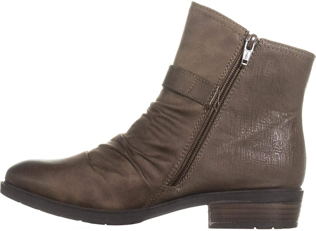 BareTraps Womens Ysidora Faux Leather Gathered Booties Brown 6 Medium (B,M)