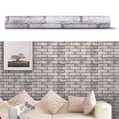SimpleLife4U Brick Pattern Self Adhesive Removable PVC Wall Sticker Decal  Home Decor ,18 Inches By 13 Feet Part 69
