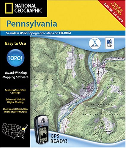 National Geographic TOPO! Pennsylvania Map CD-ROM (Mac)