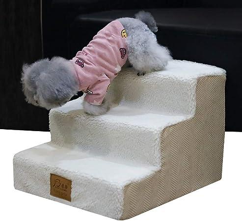 Escalera de Mascota Escaleras para Perros pequeños para sofá - Pasos Interiores para Perros con Banda de Rodadura para alfombras - Altura 30 cm / 12 Pulgadas, Fondo Antideslizante: Amazon.es: Hogar