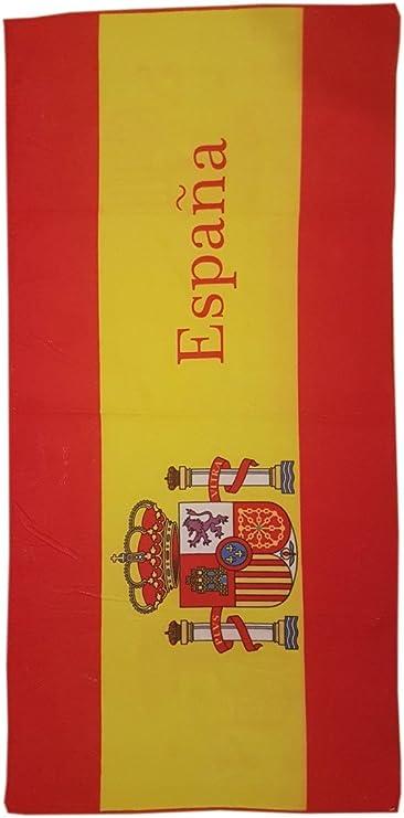 Toalla de Playa Estampada con la Bandera española - Medidas 140 x 70 cm. - 100% Acrylic: Amazon.es: Deportes y aire libre