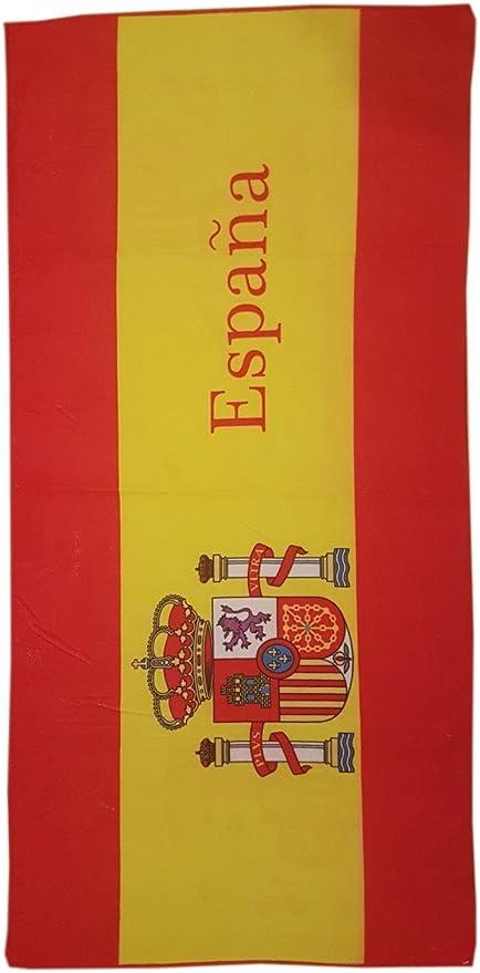 Toalla de Playa Estampada con la Bandera española - Medidas 140 x ...
