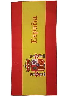 Toalla de Playa Estampada con la Bandera Española - Medidas 140 x 70