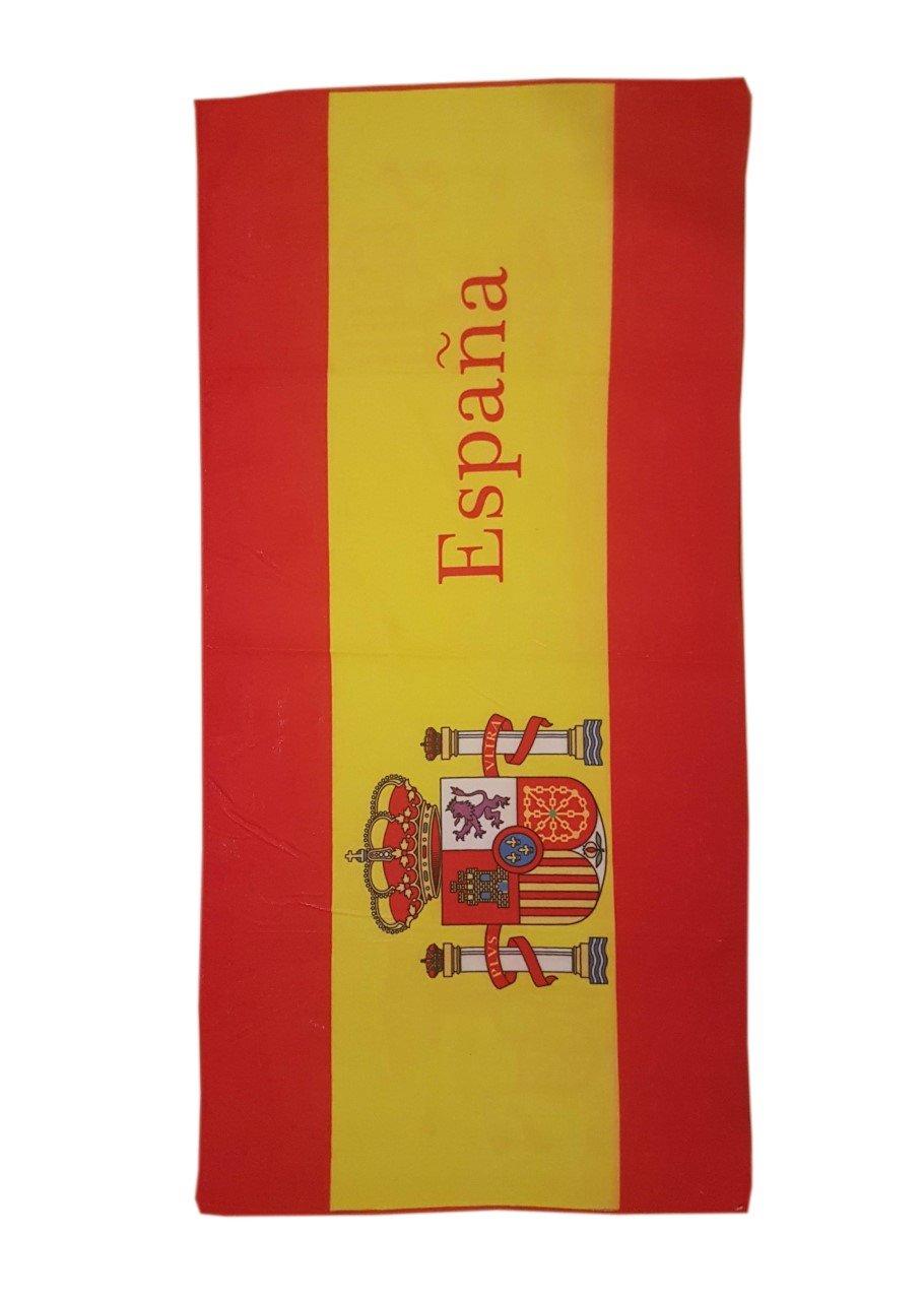 Toalla de Playa Estampada con la Bandera Española - Medidas 140 x 70: Amazon.es: Deportes y aire libre