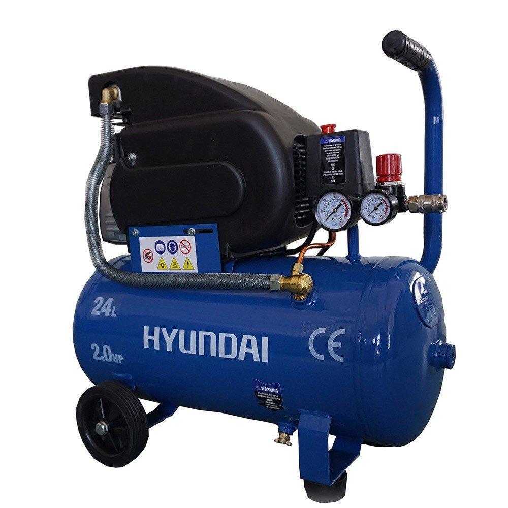 Hyundai 65600 1500W compresor de aire - Compresores de aire (2800 RPM, 8 bar, Negro, Azul, 1500 W, 610 mm, 260 mm): Amazon.es: Bricolaje y herramientas