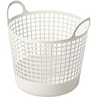 Like It LB-01B-WH Round Laundry Basket, 25 L, White