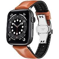 Shxchen Skórzany pasek do zegarka kompatybilny z Apple Watch 38 mm 40 mm 42 mm 44 mm zapasowy pasek z pętlą sportowy…