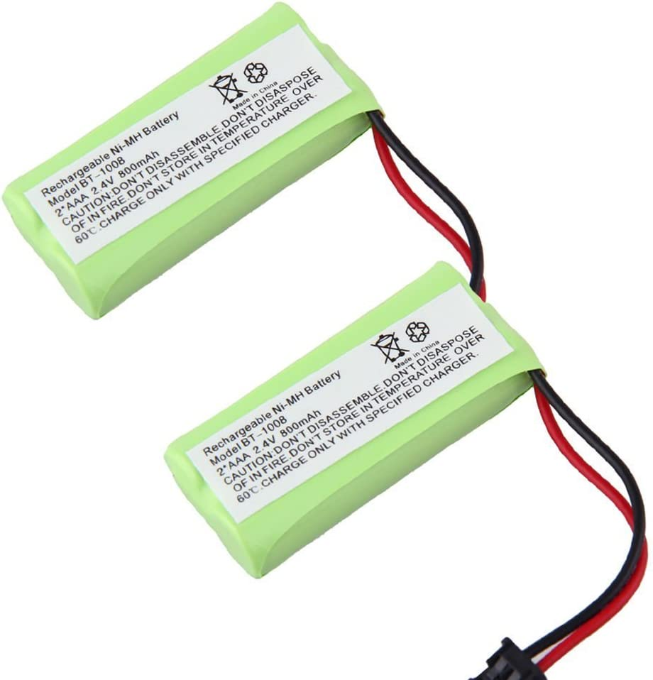 JIAN YA NA 2.4V 2 AAA 800mAh Ni-MH batería de teléfono inalámbrico para el hogar para Uniden (2 Paquete): Amazon.es: Electrónica