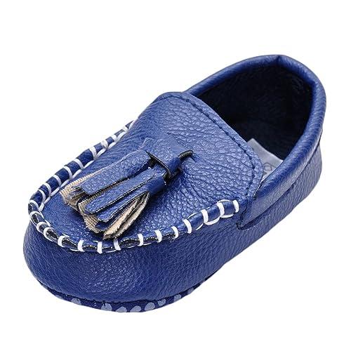 MK Matt Keely Bebé Chicas PU Zapatillas Niñito Borla Mocasines Zapatos: Amazon.es: Zapatos y complementos