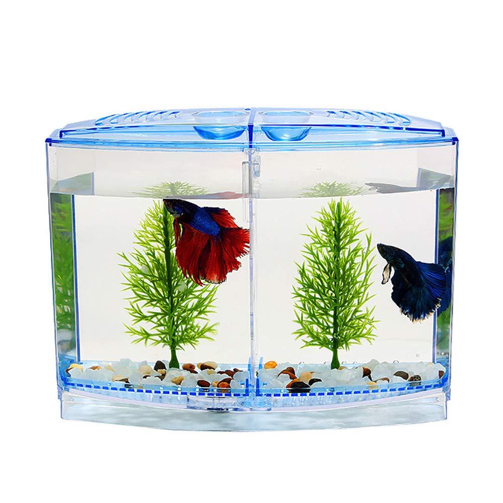 Hamiledyi Fish Breeder Box, Aquarium Breeding Hatchery Incubator Isolation Box Tank for Guppy Fish Breeder