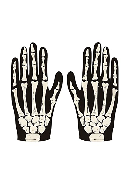 Wicked Costumes Adult Unisex 3D Skeleton Gloves Fancy Dress Accessory