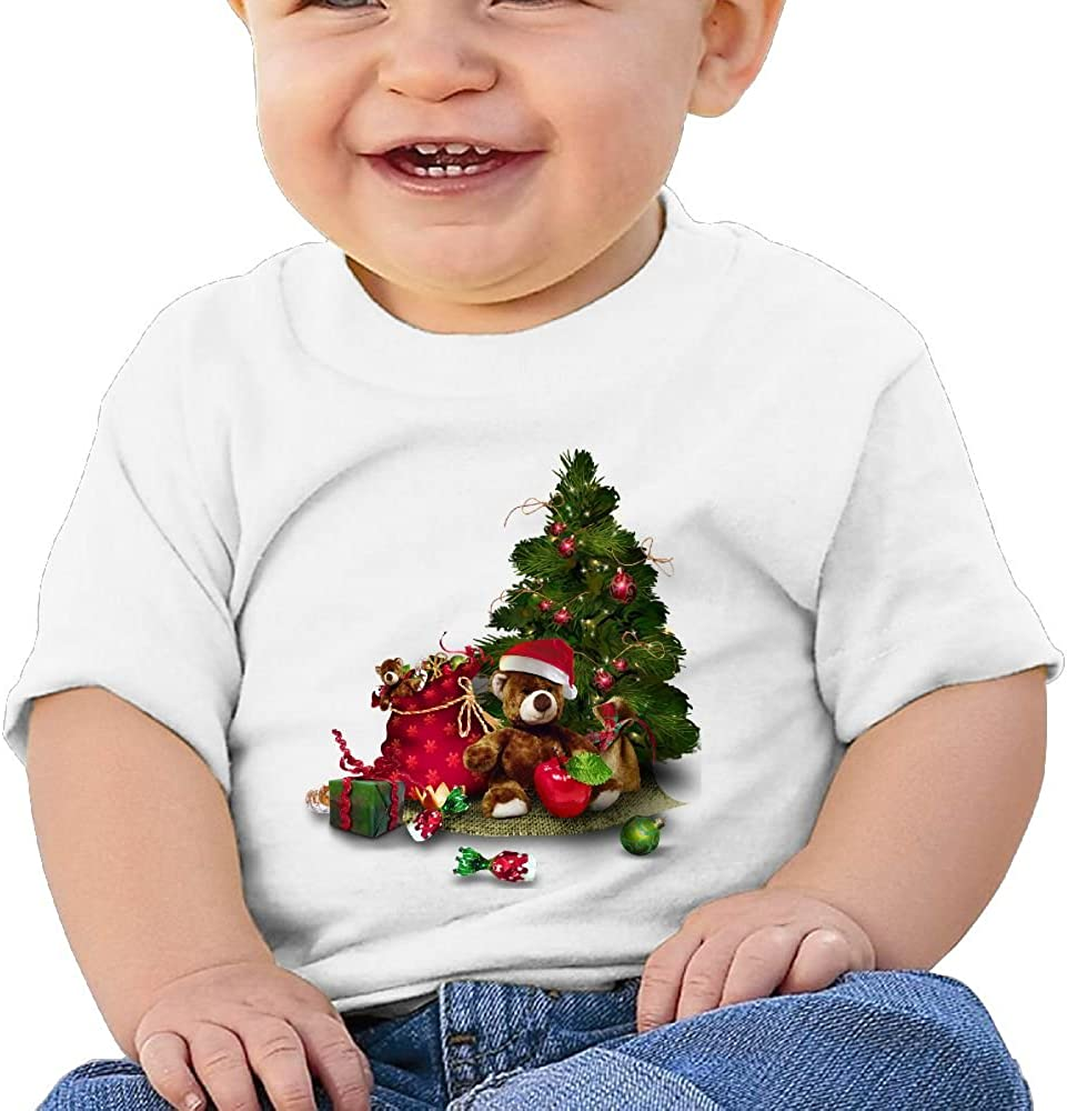 FFWWLHR Christmas Holly Baby Clothing Tops Unisex Fashion Merry Christmas Cotton Baby Toddler T Shirt Tops