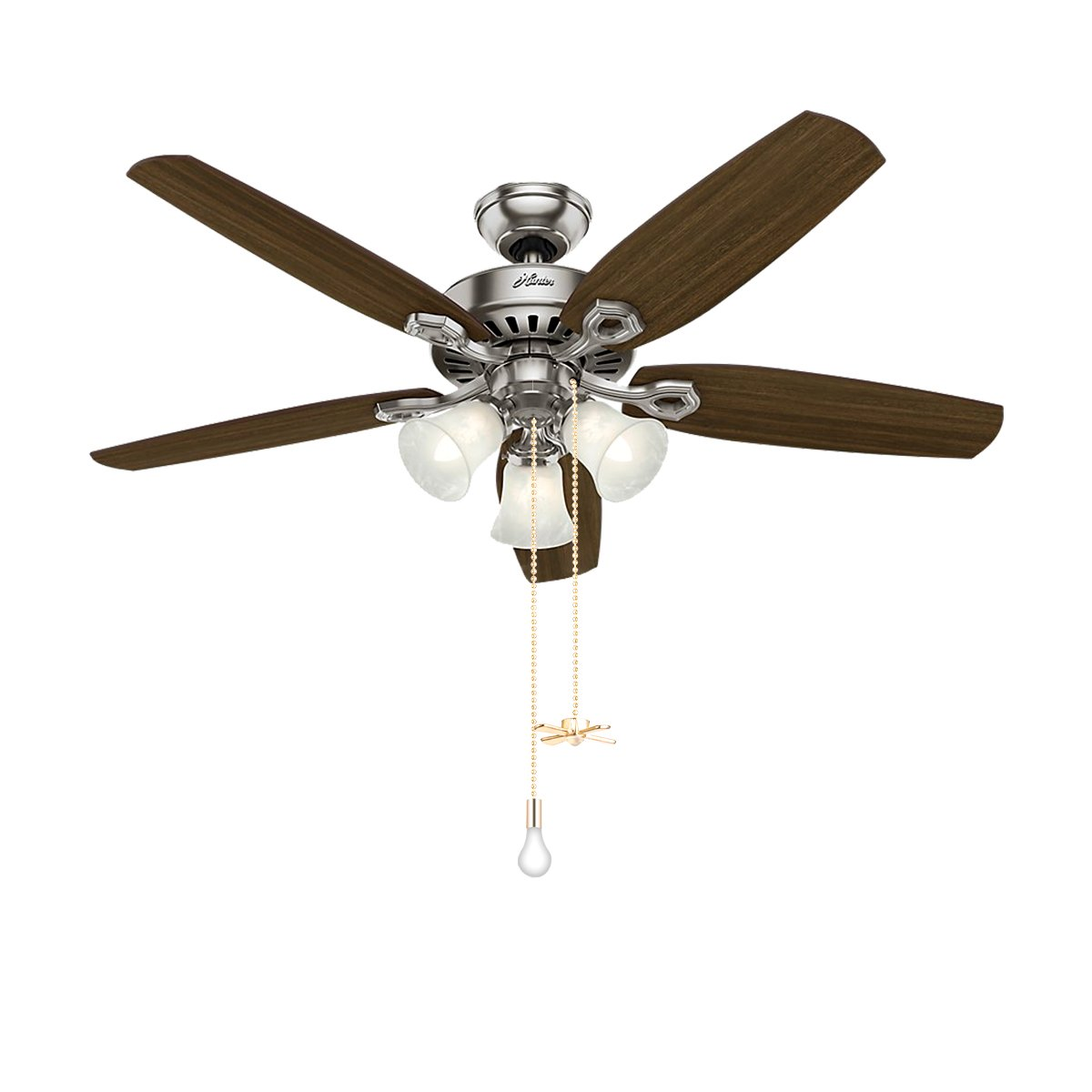 "Bronze Pull Chain Set, Sunix 11.8"" Ceiling Fan Pull Chain Included 35.4"" Diameter 3.2 mm Beaded Extensions with 4 Connectors, Golden, One Pair by Sunix (Image #2)"