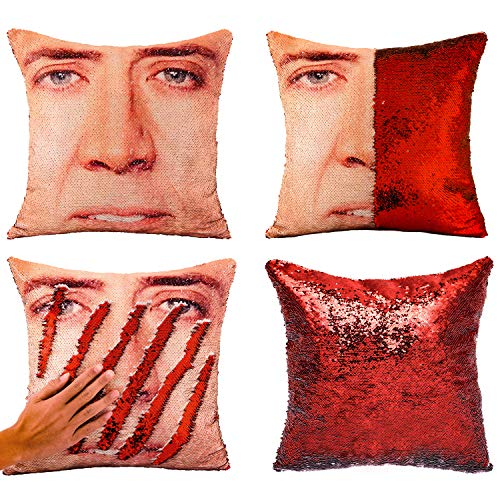 Tiaronics Magic Reversible Sequins Mermaid Pillow Cases Throw Pillow Covers Decorative Pillowcase 4040cm(1616