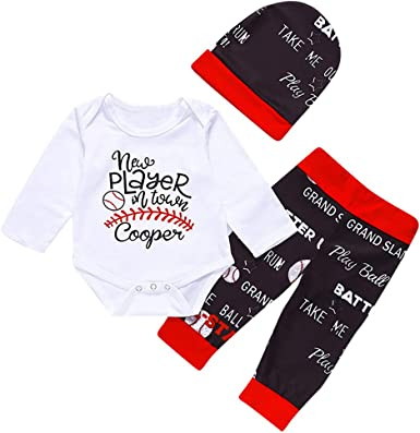 3PCS Newborn Baby Tops Romper Long Sleeves Shirt+Long Pants Leggings Hat Outfits
