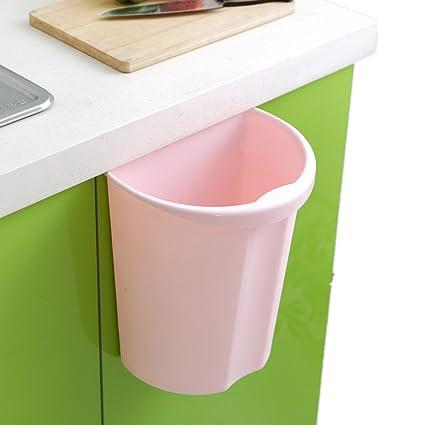 Amazon Com Hanging Trash Bin Garbage Can Waste Storage Basket