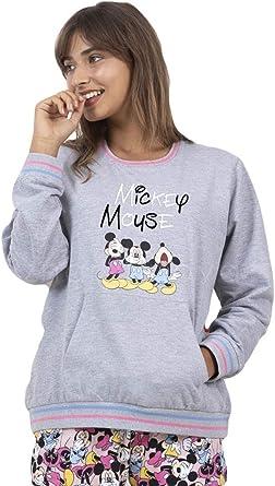 Disney Pijama Manga Larga Felpa Bolsillo Coloured Chalk para Mujer
