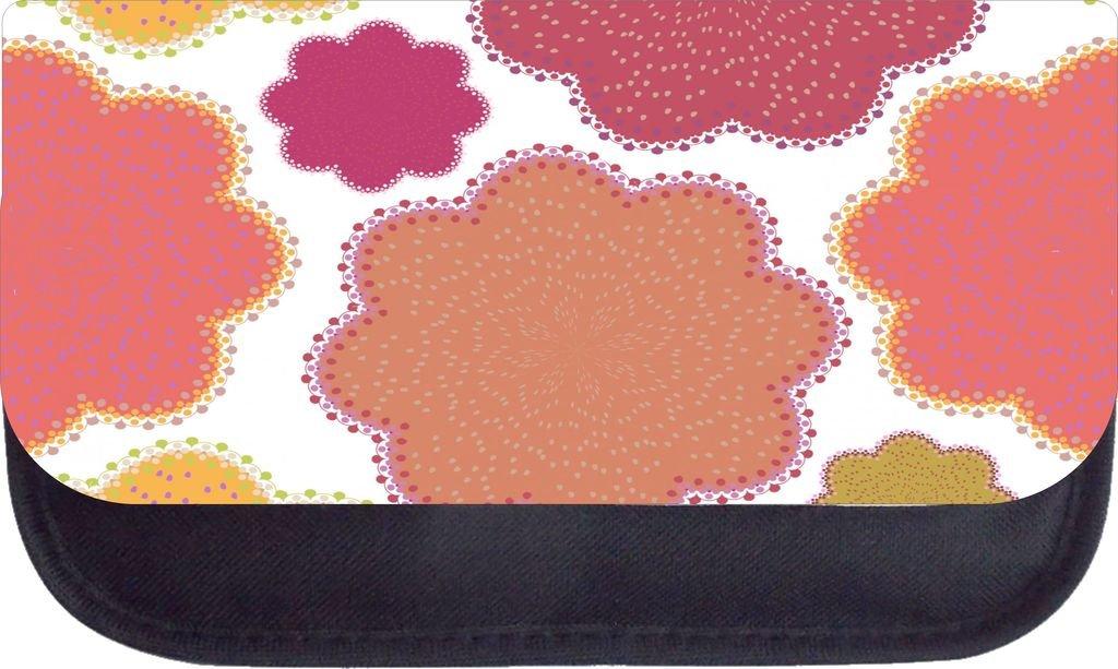 Dotty Flowers TM Medium Sized Messenger Bag 11.75 x 15.5 and 5 x 8 Pencil Case SET Rosie Parker Inc