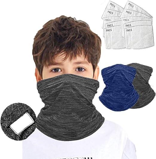 Face Covering Neck Gaiters for Kids Balaclava Rave Bandanas Headband Summer Neck Gaiter Color 14