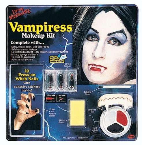 WMU 551565 Living Nightmare Vampiress Kit Costume Makeup (Vampiress Makeup)