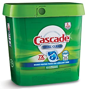 Cascade Total Clean Gel Dishwasher Detergent Fresh Scent Dawn 105 Count, Action Pacs - New!!!