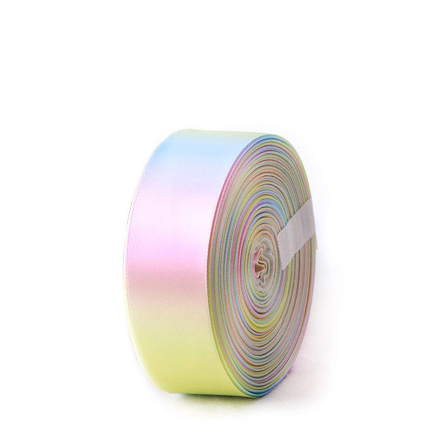 Party Streamers Rainbow Ribbon Printed Polyester Satin Ribbons Handmade Materials,50mm by AYO-LE streamers (Image #3)