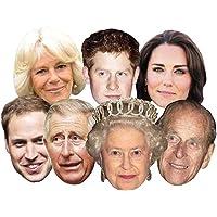 Star Cutouts Ltd The Royals - Multipack - 7 Celebrity Face Masks