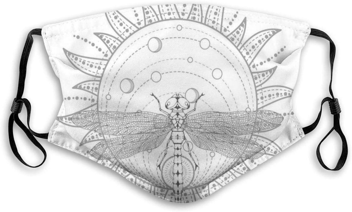 Boca Ma-SK, diseño Abstracto en Tonos apagados con órbita de Planetas solares e ilustración de libélula, Decoraciones faciales Impresas con Filtro para niños Adultos