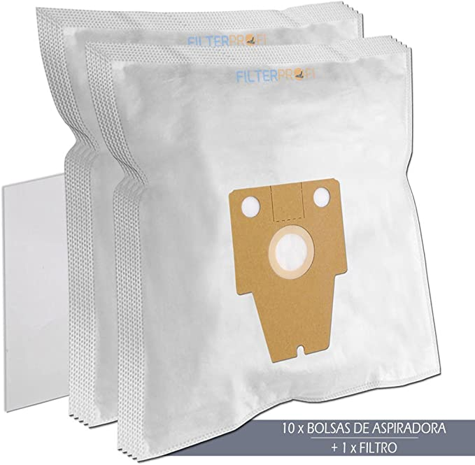 TOP - 10 Bolsas de aspiradora para BOSCH ERGOMAXX PROFESSIONAL BAG AND BAGLESS HEPA 2400W BSG82485/01, BSG82485/08, BSG82485/10: Amazon.es: Hogar