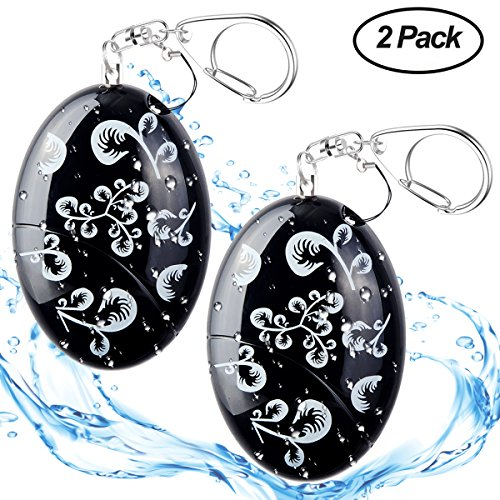 ASTUBIA Personal Alarm Keychain [Water-Proof] 120DB Self-Defense Emergency Sound Siren Safe Song Alarm for Women Kids Elderly Superior Explorer -2 Pack by ASTUBIA