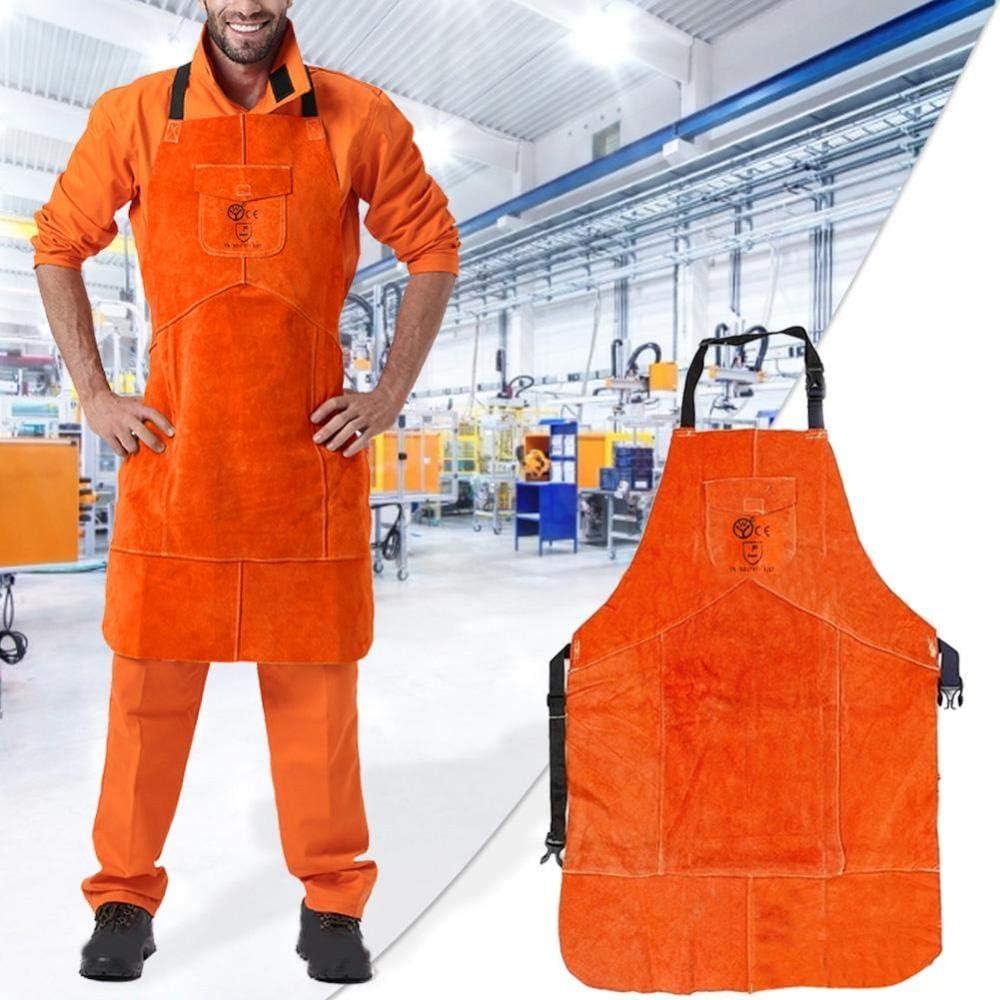 LCK Designer Saldatore Saldatori Grembiuli Sicurezza sul Lavoro Abbigliamento da Lavoro Fabbro, Arancione Orange