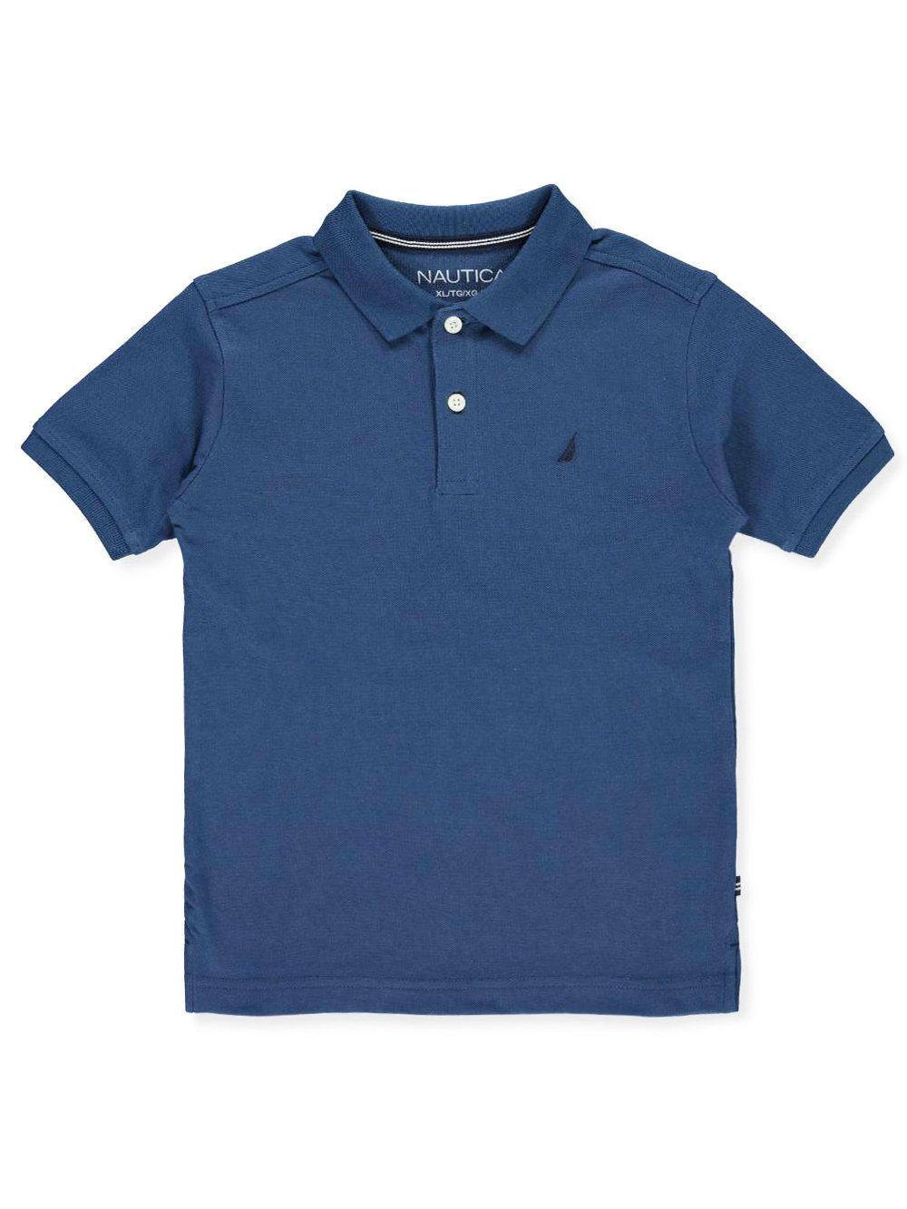 Nautica Big Boys' Short Sleeve Solid Deck Stretch Polo