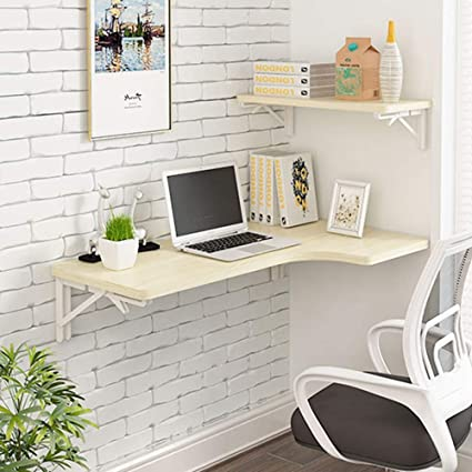 Amazon.com: Virod-Home Office Desks Wall-Mounted Fold Drop-Leaf ...