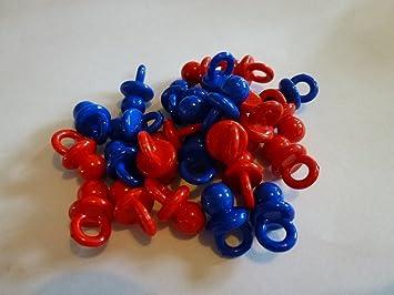 10 x Azul & Rojo 20 mm Acrílico suave chupete chupete ...