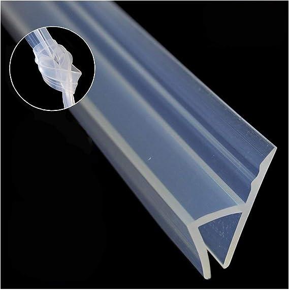 Sello de mampara de ducha, 3 m de largo, para puertas de duchas, flexible, para cristal de 6 mm, de silicona resistente a la intemperie Tienes que comprar el pegamento de silicona