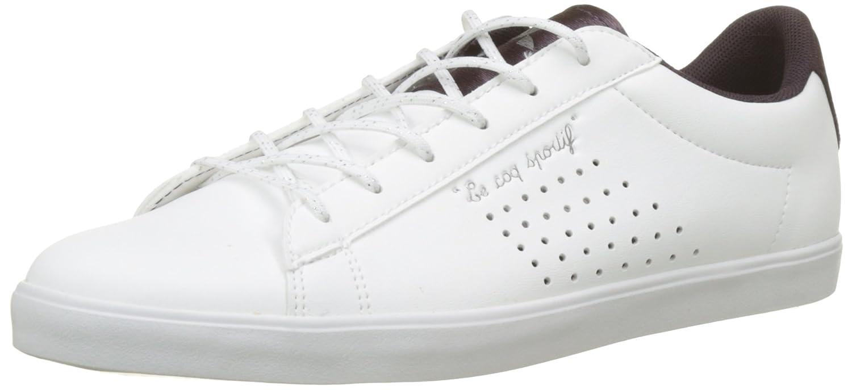 TALLA 37 EU. Le Coq Sportif Agate Sport Optical White/Plum, Zapatillas para Mujer