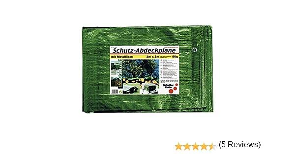 Verde, 6x8m Schuller 46511 Tela Impermeable con Ojales de Color de 90 Gramos