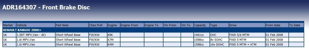 Blue Print ADR164307 Bremsscheibensatz 2 Bremsscheiben