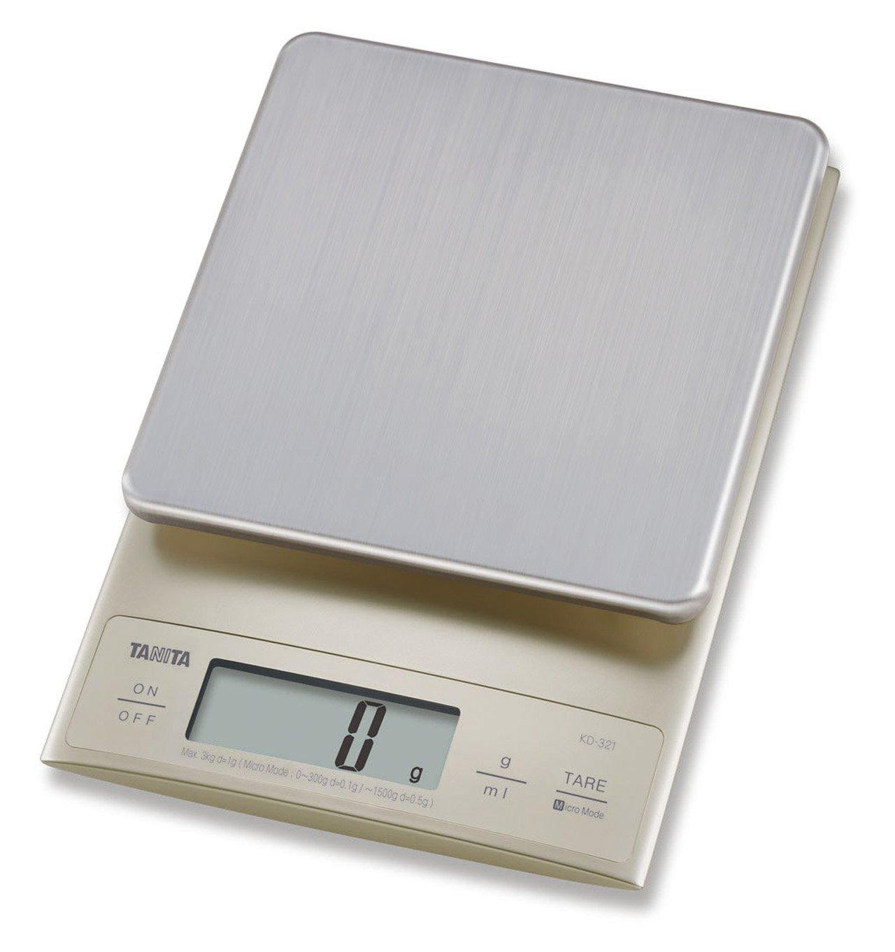 Tanita KD321SV33 Bilancia da cucina 3 kg a scatti di 0.1 g: Amazon ...