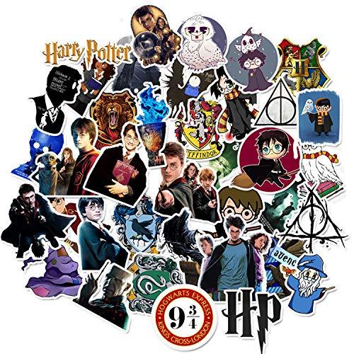 Harry Potter Cartoon Waterproof Stickers 50pcs Car Laptop Helmet Luggage Vintage Skateboard Wall Decor Gift for Kids (Harry Potter)