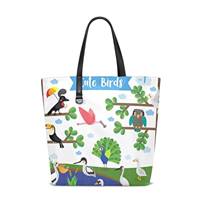 bbade8fa82d0 Amazon.com  Handbags for Women Bird Owl Peacock Duck Tree Branches Tote  Shoulder Bag Satchel  Shoes