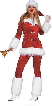 Navidad Mujer Santa Velour Disfraz Navidad Papá Noel Christmas 36 ...