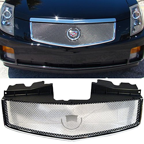 Stainless Steel Chrome Grille - 03-07 Cadillac CTS V Mesh Front Hood Grille Stainless Steel Chrome