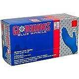 AMMEX - GWRBN44100-BX - Nitrile Gloves - Gloveworks - HD, Disposable, Powder Free, Latex Rubber Free, 6 mil, Medium, Royal Blue (Box of 100)