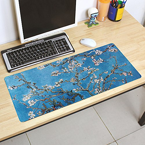 Extended Gaming Mouse Pad with Oil Painting Design, Computer
