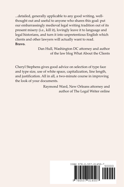 Plain Language Legal Writing by Brand: lulu.com