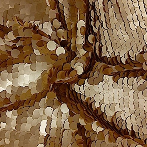 Sequin Gold Paillette Circle Confetti Fabric for Costumes Apparel Crafts By The Yard by Fabric Wholesale Direct B00XWTWU0E